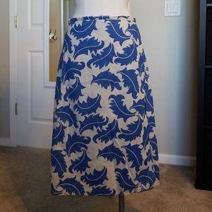 Boden Wrap Cotton Skirt